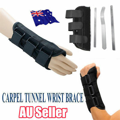 Wrist Splint Brace Protection Support Strap Carpel Tunnel Pain Relief CTS RSI SN