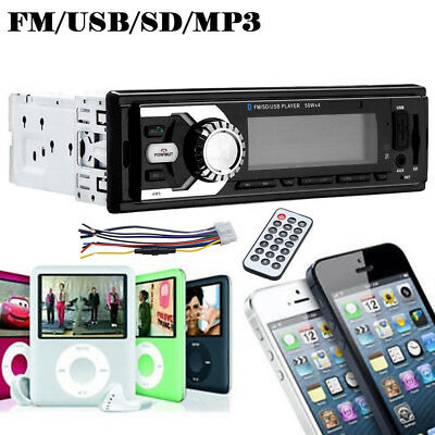Car Radio Stereo Head Unit Player In-dash MP3/USB/SD/FM/AUX IPOD IPHONE Non CD