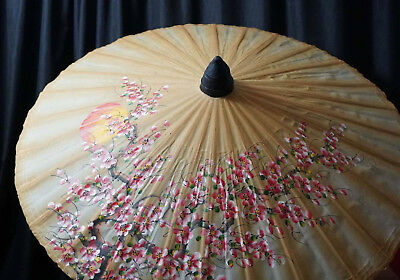 Hand Crafted Hand Painted Oil Rice Paper Bangasa Parosol