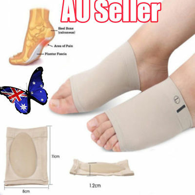 ARCH Support Shoe GEL Insole Flat Feet Pad PAIN RELIEF Plantar Fasciitis Foot S4