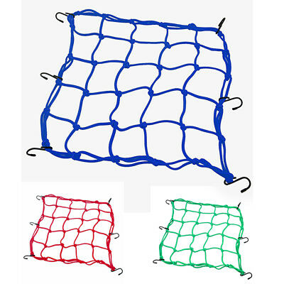 Heavy-duty Cargo Net for Motorcycles, ATVs - Blue Q7C5