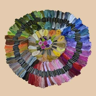 AU Multi Colors Cross Stitch Cotton Embroidery Thread Floss Sewing Skeins HOT