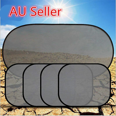 5Pcs Side Rear Window Screen Mesh  Sun Shade Cover For Car UV Protection SN