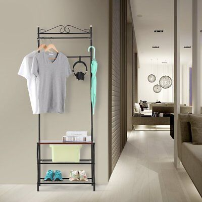 New Metal Coat Hat Shoes Rack Stand Clothes Umbrella Stands Hanger Hall Shelves