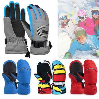 US Kids Girls Boys Winter Warm Gloves Windproof Skating Gloves Snowboarding 2-8T