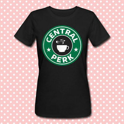 T-shirt donna Central Perk Friends inspired Starbucks style inspired, nera