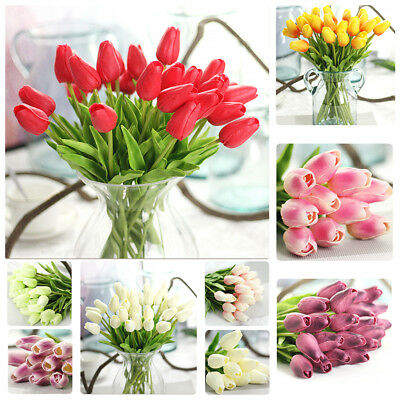 Artificial Tulip Silk Flowers Flower Floral Fake Home Wedding Party Table Decor