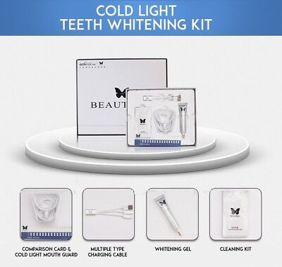 BEAUTIFUL Cold Light Teeth Whitening Kits Tooth Stains Remover Oral Beauty Care