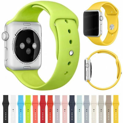 Silicone Watch Band Strap For Apple Watch Series 3/2/1