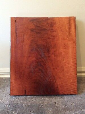 Red Gum Fiddleback Small Piece, Craft, Luthier, Box Maker. #2