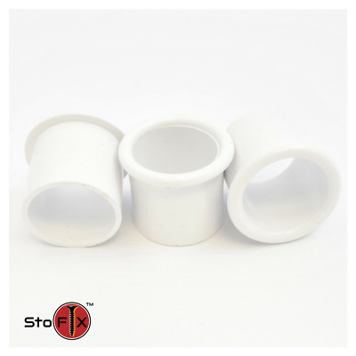 White Nylon Bell Mouth Bush 25mm