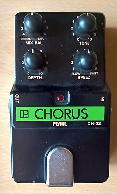 Vintage Pearl CH-02 Chorus Pedal, 80's made in Japan MIJ