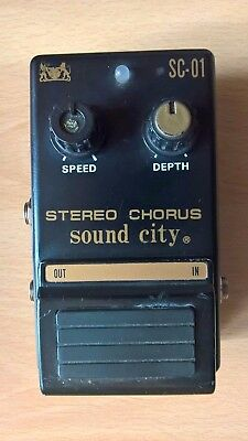 Rare Sound City Stereo Chorus SC-01 Vintage 80's Collectible Pedal