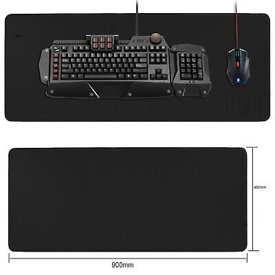 900x400mm XXL Large Black Non-Slip Gaming Mouse Pad Mat Special-Textured Surface