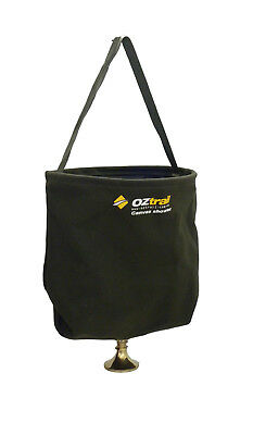 Oztrail Heavy Duty Canvas Shower Bucket with brass Rose head 20LCamping Outdoors