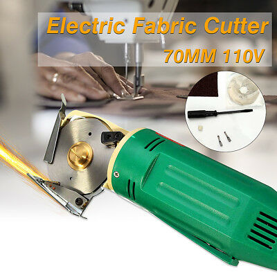 110V 70MM Electric Fabric Cutter Rotary Blade Scissors Cloth Cutting Machine US