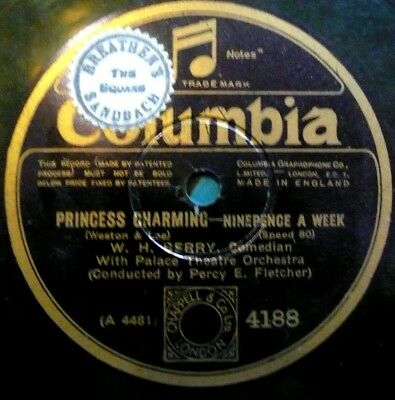 """Princess Charming W.H. Berry, not old enough to be old  78rpm 10"""", echt Klasse"""
