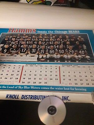 Hamms Beer 1967 Chicago Bears  Chicago Cubs & Chicago White Sox Complete Poster