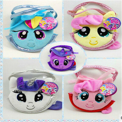 My Little Pony Kids Handbag Plush Girls Purse Bag Soft Wallet Children Gifts GN