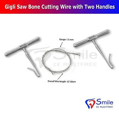 Gigli's Saw Bone Cutting Wires with Two Handles Orthopedic Surgery Instruments
