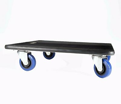Rubber edge/top 59x59cm Dolly Removal Moving Trolley Skate 10cm wheels 500kg LC