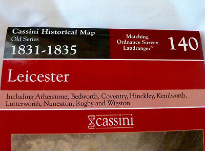 1831-1835, Leicester, Coventry & Rugby by Cassini Publishing Ltd