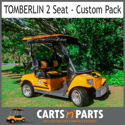Tomberlin Orange 2 Seat Golf Cart Buggy Full Custom Pack Really Fast Speed