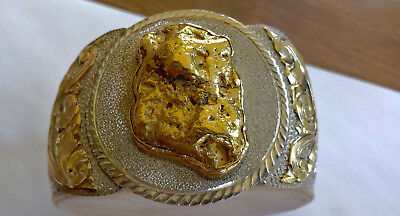 Women's Jewelry Awe-Inspiring 1.3 oz Natural Gold Nugget Cuff Bracelet