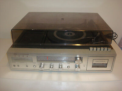 Vintage Sears Am/fm Stereo System Turntable Cassette 8 Track Player 132.91921900