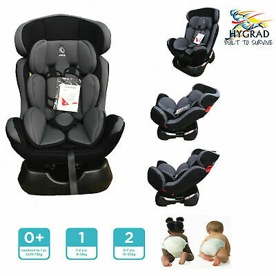 G4RCE Kids Children Car Seat - From Birth To 7 Years - Group 0 / 1 / 2- Black UK