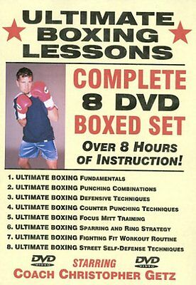 "CHRIS GETZ ""Ultimate Boxing Lessons"" 8 DVD SET training coaching R.R.P £200"