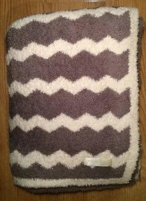 "Barefoot Dreams Big Kids Throw, 45""x60"" Chevron - Cream and Warm Gray"