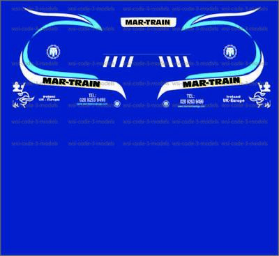 Mar-Train Scania Decals 1:50 Code 3 Heavy Haulage Suitable For Wsi Tekno Corgi