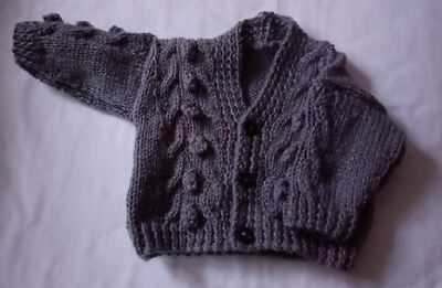 newborn Boys Knitted Cardigan In Charcoal Grey  .. Brand New