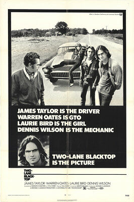 Two-Lane Blacktop 1971 27x41 Orig Movie Poster FFF-11683 Fine, Very Good