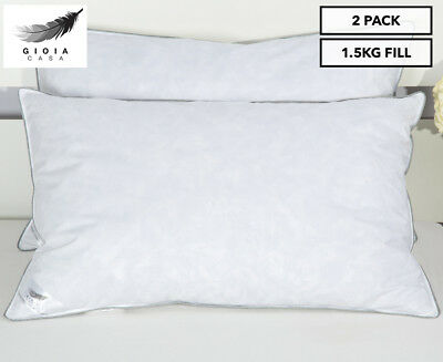Gioia Casa 1.5kg Fill Duck Feather Pillow Twin Pack