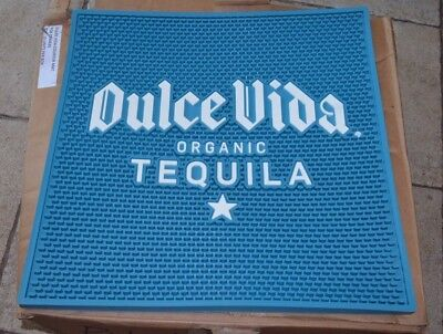 Dulce Vida Organic Tequila Rubber Liquor Drink Cave Bar Mat LARGE Tray Man Woman