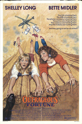 Outrageous Fortune 1986 27x41 Orig Movie Poster FFF-08325 Fine Bette Midler