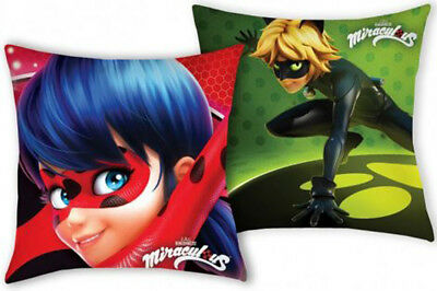 Personalised Embroidered Miraculous Ladybug Two Sided Character Cushion Cover