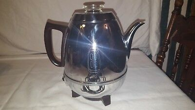 Vintage GE General Electric 9-Cup Pot Belly Electric Coffee Percolator
