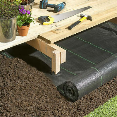 Heavy Duty Weed Control Fabric Ground Sheet Cover Membrane Landscape Garden Pegs