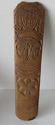 Rare 18 Century American Folk Art Carved Wooden Busk Dated 1761 Scrimshaw Ship