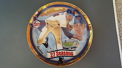 Nolan Ryan 27 Seasons 1993 Sports Impressions Collectors Plate