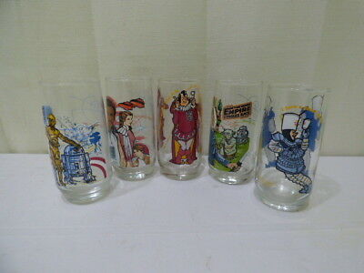 Vintage 1979 Burger King Collector Series Drinking Glasses Tumblers Lot of 5