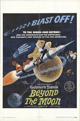 Gulliver's Travels Beyond The Moon 1969 27x41 Orig Movie Poster FFF-16379