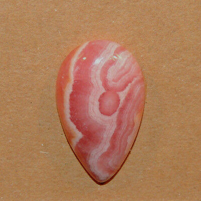 Pink Rhodochrosite Cabochon 28.5x16.5mm with 7mm dome (13119)