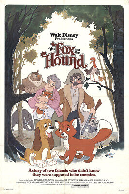 The Fox and the Hound 1981 27x41 Orig Movie Poster FFF-15387 Fine Kurt Russell
