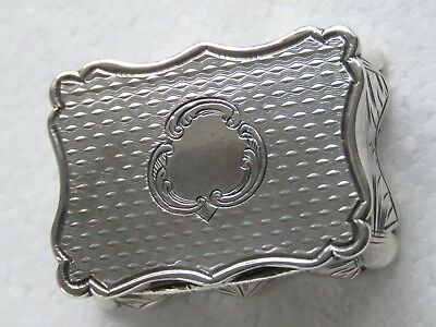 ANTIQUE VICTORIAN SILVER SCALLOP-EDGE VINAIGRETTE, EDWARD SMITH, 23.5g