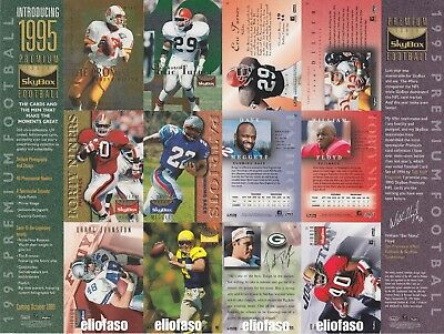 1995 Sheet Skybox Premium Football