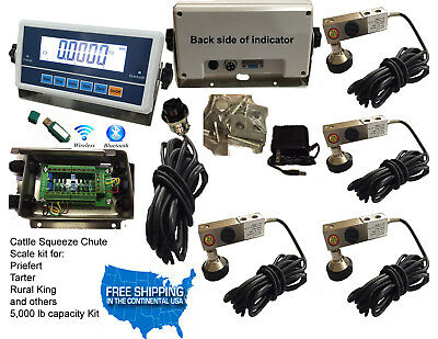 Livestock Scale Kit Cattle Hogs Squeeze Chute kit, With DATA software, Bluetooth